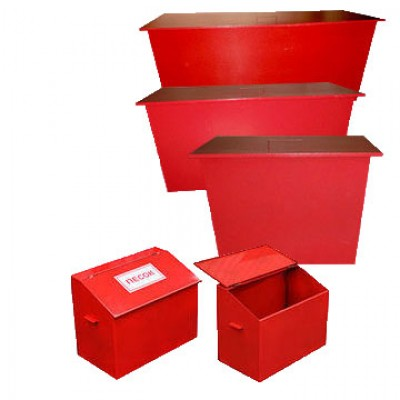 Пожежний ящик для піску об'ємом 0.5 м3