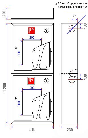 Характеристики пожежної шафи ШПК-321 НОК