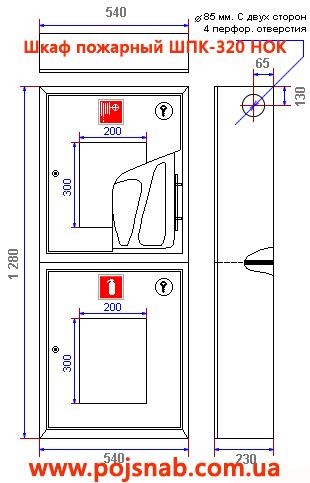 Характеристики пожежної шафи ШПК-320 НОК