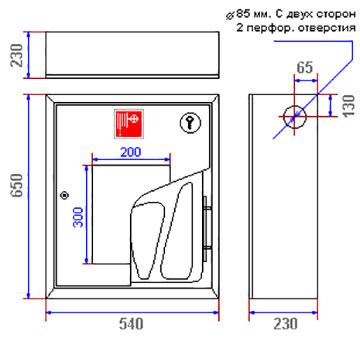Характеристики пожежної шафи ШПК-310
